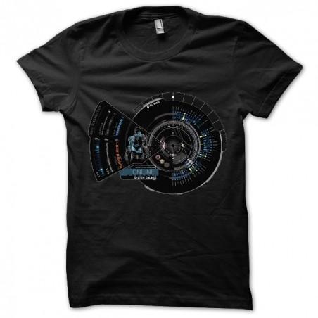 Black Iron Man Jarvis T-shirt sublimation