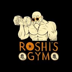 shirt roshi's gym turtle genial black sublimation