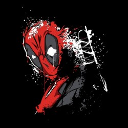 deadpool samurai shirt black sublimation