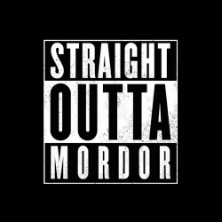 tee shirt Lord of the rings - Mordor  sublimation
