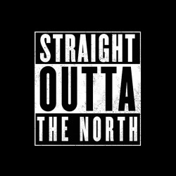 Game of thrones shirt - Straight outta The north black sublimation