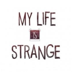 shirt my life is strange white sublimation