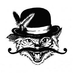 shirt cat mustache white...