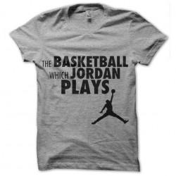 tee shirt Jordan Plays gris...