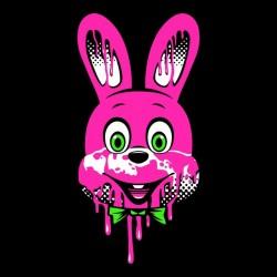 shirt horror black rabbit sublimation