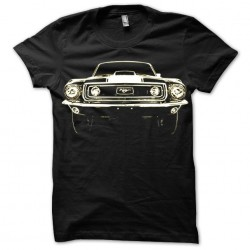 Ford Mustang sublimation black t-shirt
