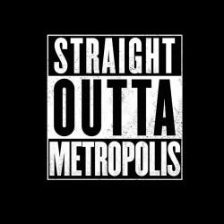 black sublimation Metropolis shirt