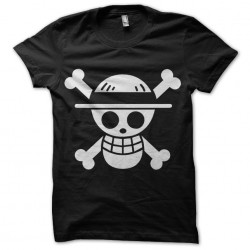 One Piece shirt flag black...