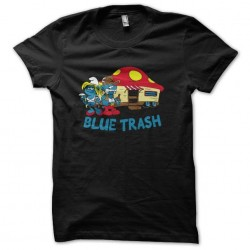 shirt smurf trash black...