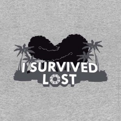 tee shirt i survived lost gris sublimation