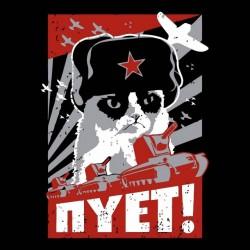 tee shirt chat communiste  sublimation