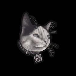 shirt cat thug life black sublimation