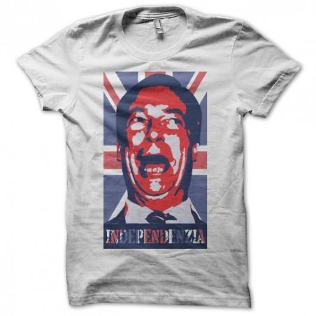 T-shirt Nigel Farage independenzia white sublimation