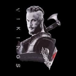 ragnar vikings shirt black sublimation