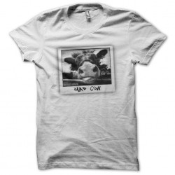 Mad Cow white sublimation t-shirt