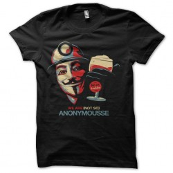 shirt anonymous black beer...