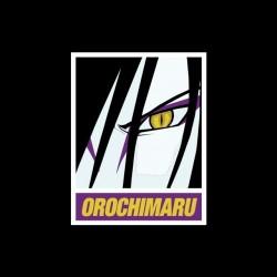 Naruto Orochimaru parody Obey black sublimation t-shirt