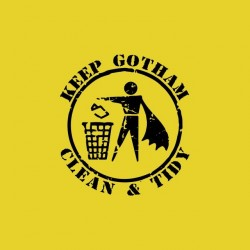 Keep Gotham Clean & Tidy yellow sublimation t-shirt