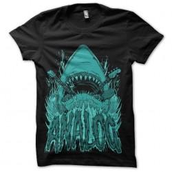 tee shirt shark analog...