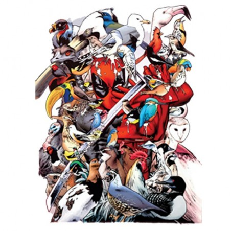 Deadpool t-shirt and the white sublimation bird