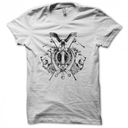 Tattoo shirt tattoo lion with white eagles sublimation