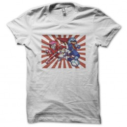 Samourai Pizza Cats white sublimation t-shirt