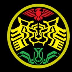 Black biker symbol...