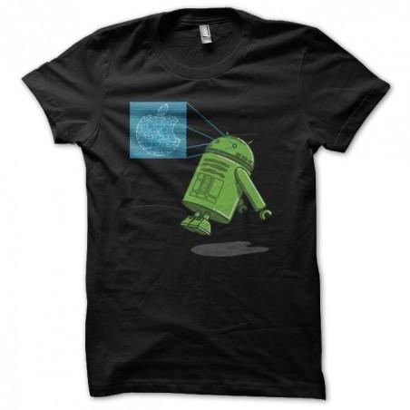 Parody t-shirt Apple R2D2 Android black sublimation