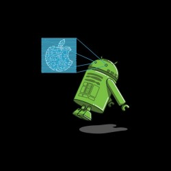 Tee shirt parodie Apple R2D2 Android  sublimation