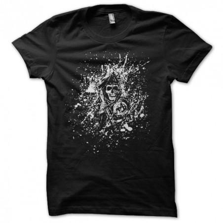 T-shirt Sons of Anarchy art splash black sublimation