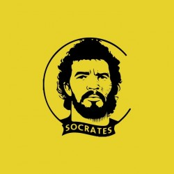 T-shirt Socrates tribute yellow sublimation