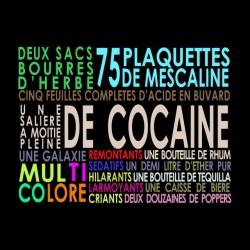 tee shirt las vegas parano liste des drogues sublimation