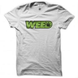 white ganja weed sublimation shirt