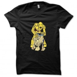 T-shirt black C3PO Zombie...