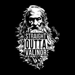 straight outta shirt valinor gandalf sublimation