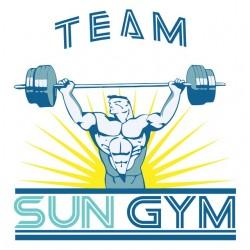 shirt sun gym team no pain no gain sublimation