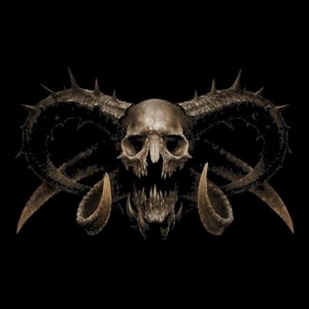 T-shirt black Demonskull sublimation