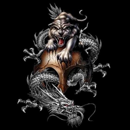 Tiger black shirt & dragon sublimation