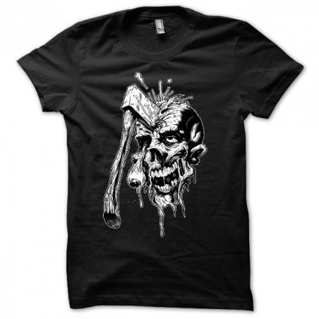 T-shirt black Zombie Hache sublimation
