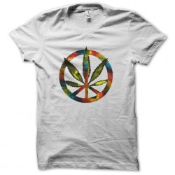 rainbow sublimation marijuana shirt