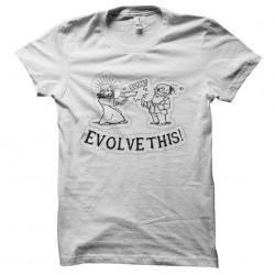 shirt evolve it white...