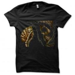 Black T-shirt Poker skull sublimation