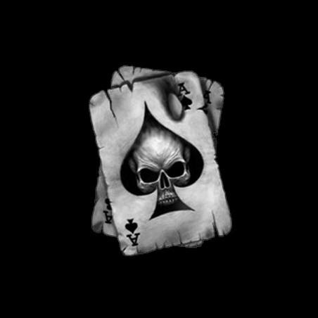 Black T-shirt Poker card skull sublimation