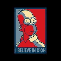 tee shirt homer simpson believe in d oh sublimation