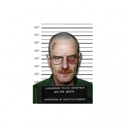 T-shirt Breaking Bad Walter White font white face sublimation