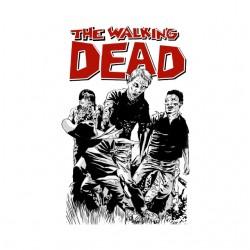 tee shirt walking dead cartoon  sublimation