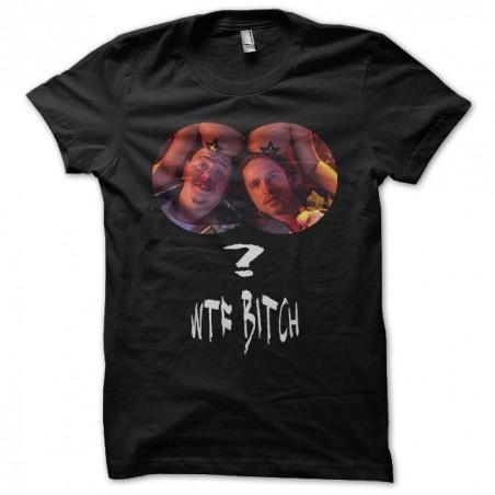 Breaking Bad Pinkman T-shirt WTF Bitch black sublimation