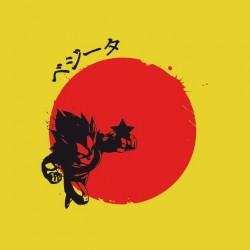 tee shirt vegeta rising sun dragon ball sublimation