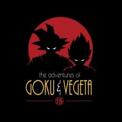 Goku shirt and vegeta dragon ball sublimation