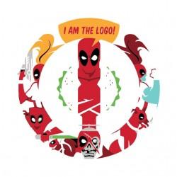 shirt deadpool the logo...